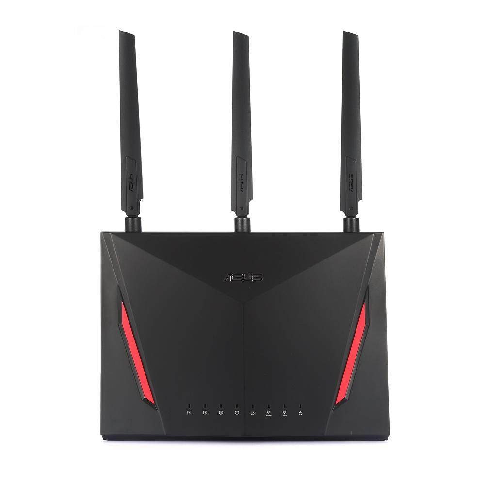 (*) ASUS RT - AC86U Dual Core 1.8G 2900Mbps AC WiFi Router [BLACK]