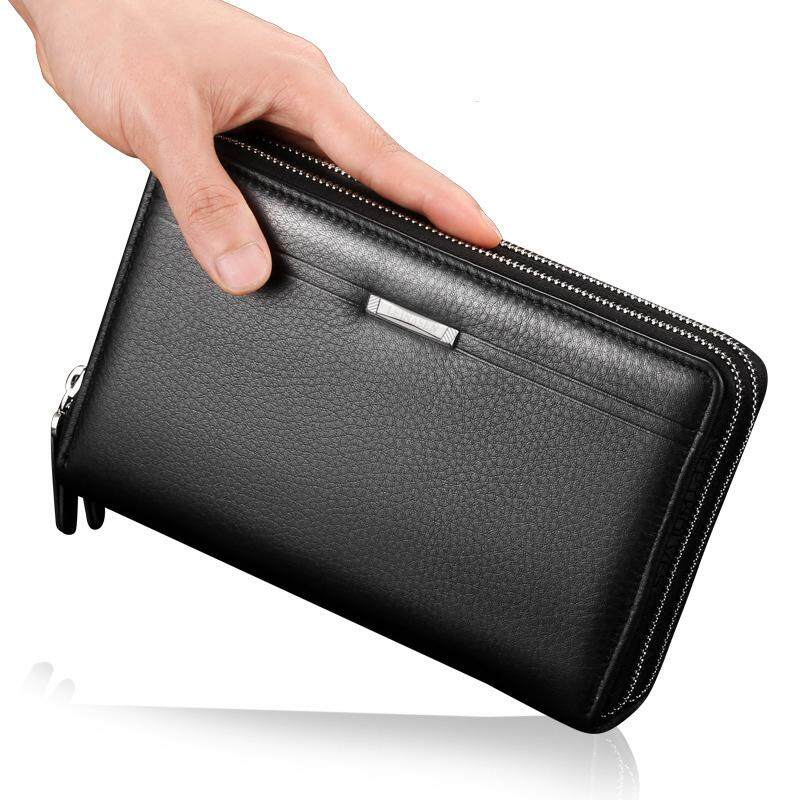 9f705784556e Men Wallets With Coin Pocket Long Zipper Coin Purse For Men Clutch Business  Male Wallet Double