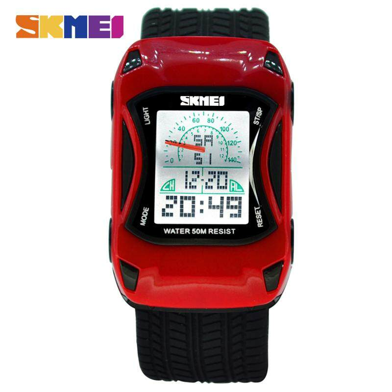 SKMEI Hot Kids Watches Silicone Jelly Waterproof Swim Sport Wristwatches For Children Car Style Digital Led Cartoon Watch For Boy 0961 Malaysia