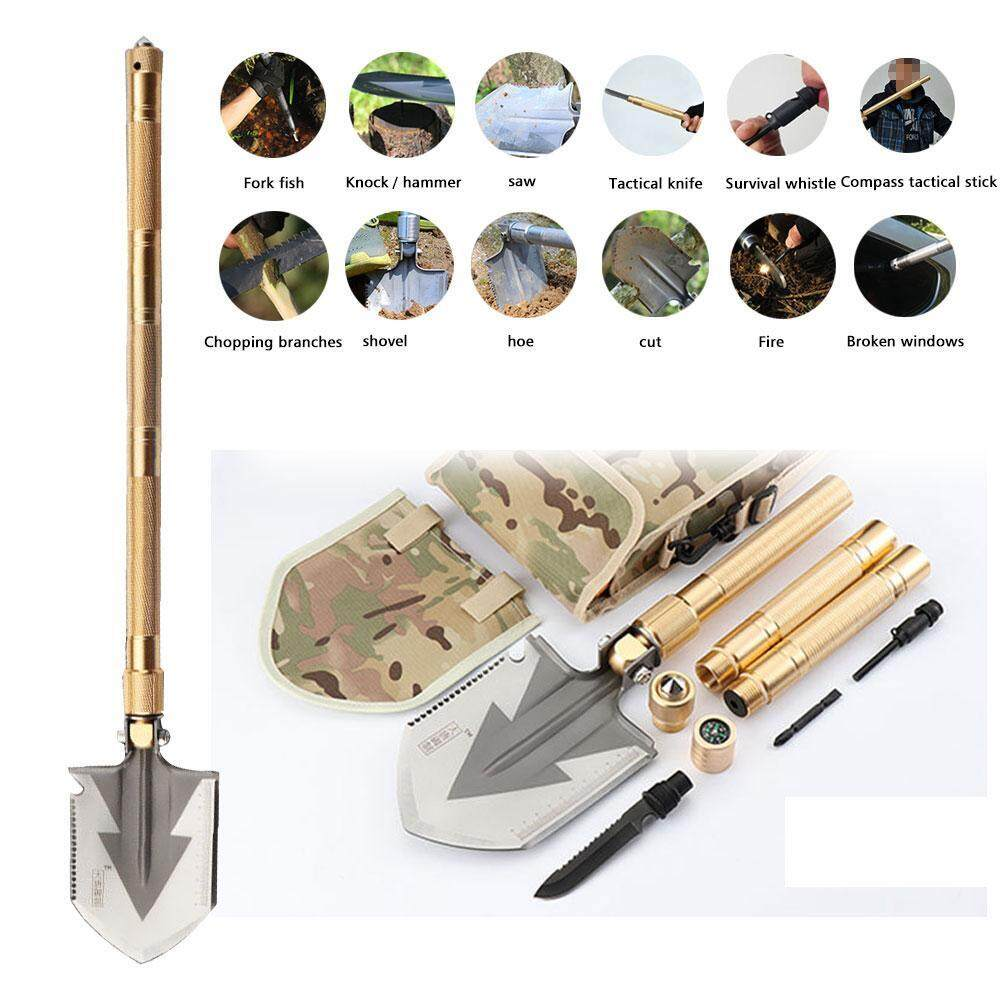 dmscs Military Folding Shovel Kit , 77cm/30 Multitool Portable Compact Tactical Spade With Carrying Case For Camping, Hiking, Gardening, Hunting, Backpacking, Trench Entrenching Tool, Car Emergency