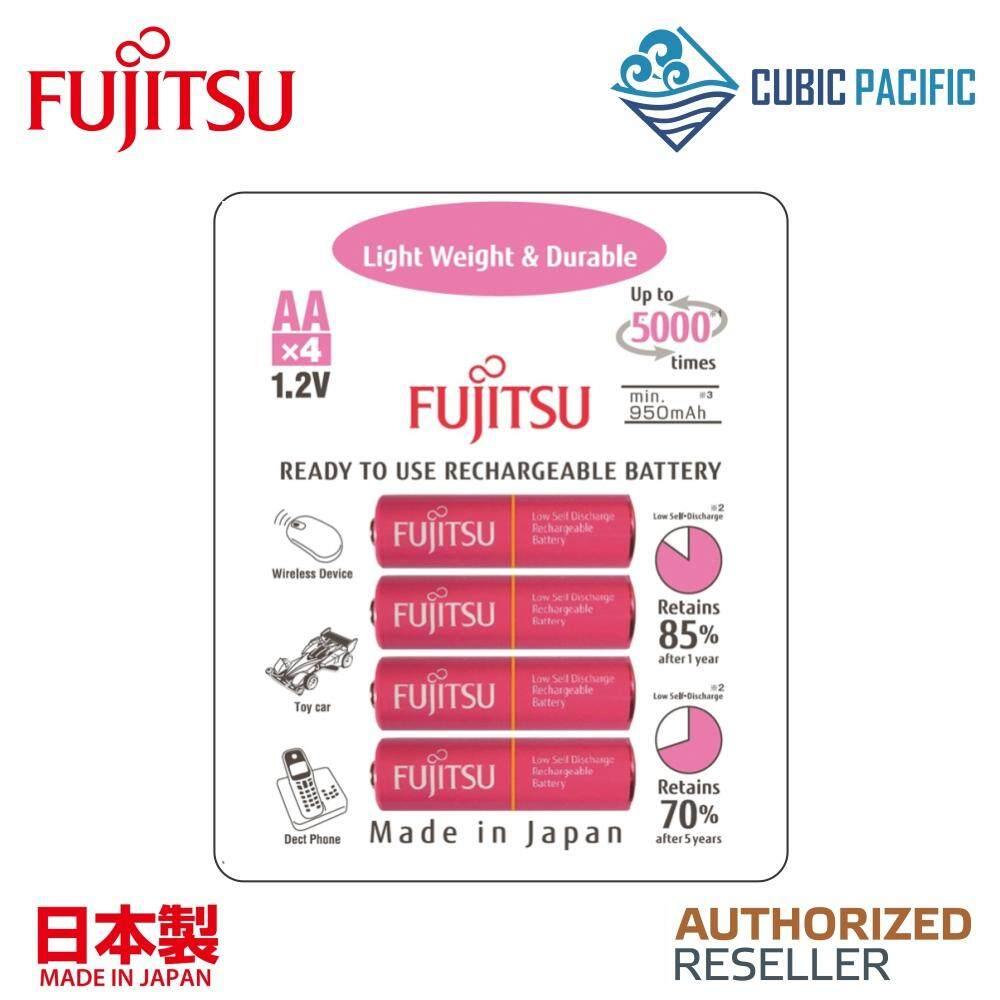 Fujitsu Light Weight & Durable AA Rechargeable Battery 1000mAh 4 Pcs