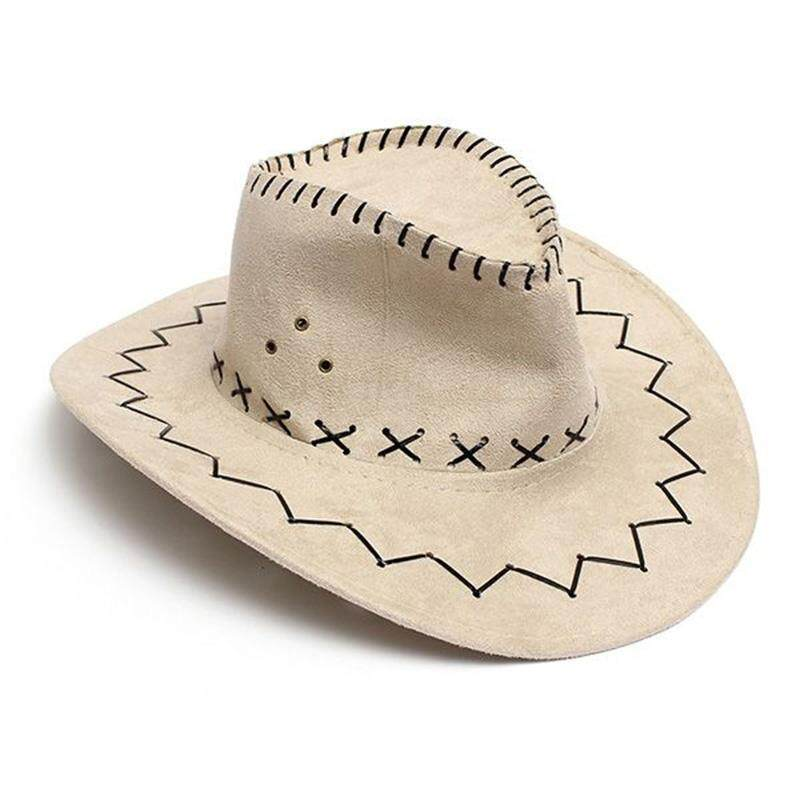 f4152e8eee3 Retro Unisex Denim Wild West Cowboy Cowgirl Rodeo Fancy Dress Accessory Hats  beige