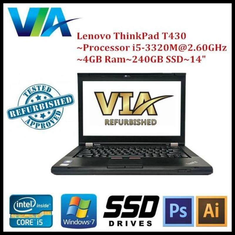 Refurb Lenovo ThinkPad T430 Core i5~4Gb~240Gb SSD~W7 Pro Malaysia