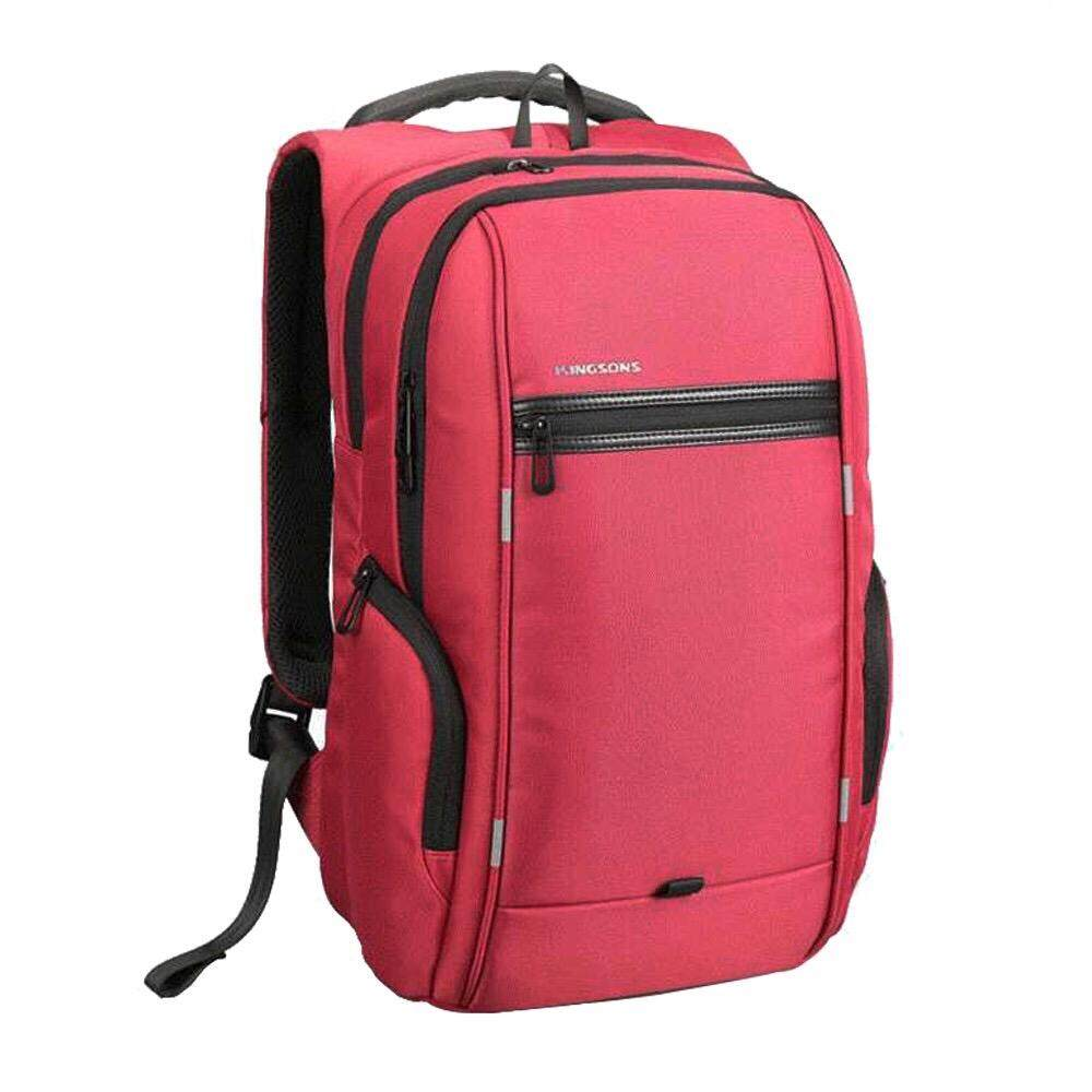 Korean Style Lightweight Travel and Laptop Backpack - Red Malaysia