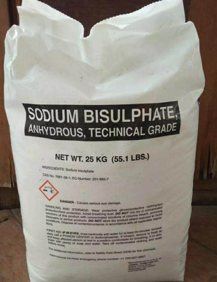 DRY ACID SODIUM BISULPHATE PH MINUS FOR SWIMMING POOL