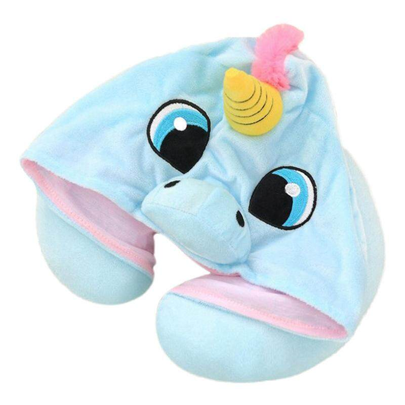 Unicorn U Shape Travel Pillow Cartoon Neck Pillow Office Airplane Hooded Neck Pillow Cushion Sleep Support By Darahry.
