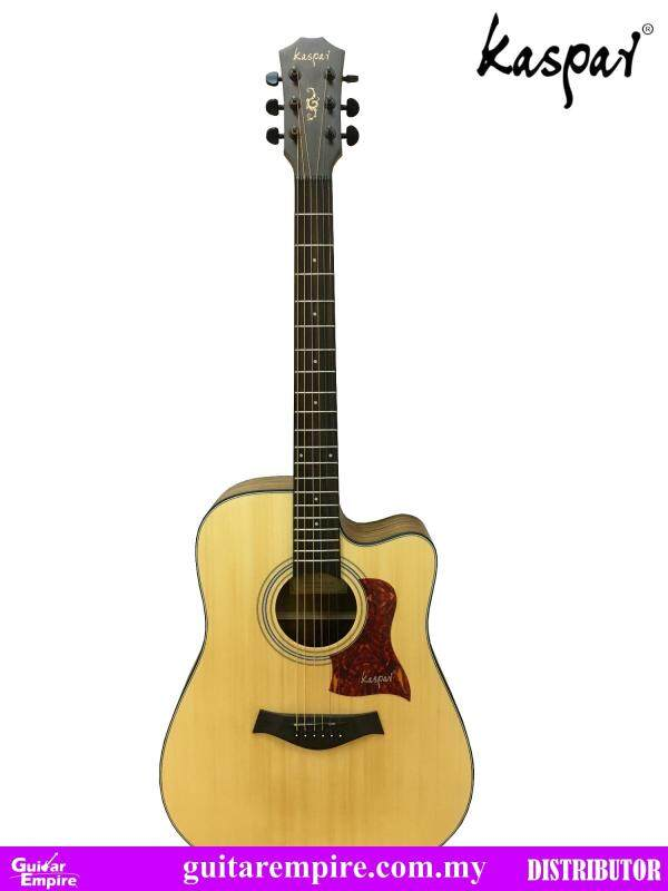 KASPAR Acoustic Guitar K312C, With Pickup and Built-in Tuner, Rosewood Fingerboard, Matte Furnishing Malaysia