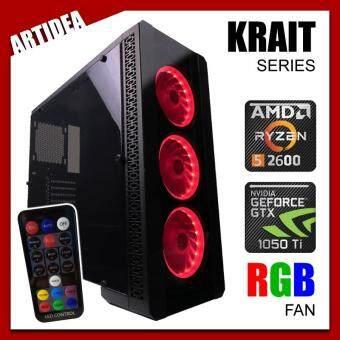 ARTIDEA NOVA KRAIT GAMING PC ( Ryzen 5 2600 / AB350M MOBO / 8GB 2666MHz RAM / GTX 1050 Ti OC 4GB Twin Fan / 1TB HDD / FSP 500W BRONZE 80+ PSU )