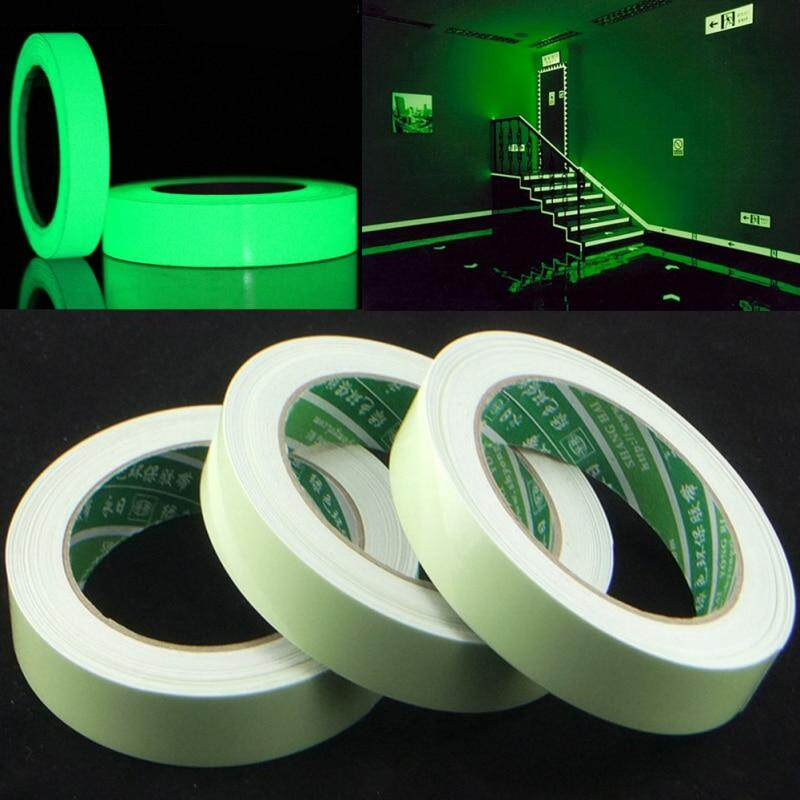 15mm x 5M/Roll Luminous Tape Self-adhesive Glow In The Dark Safety Stage Home Decorations Warning Tape