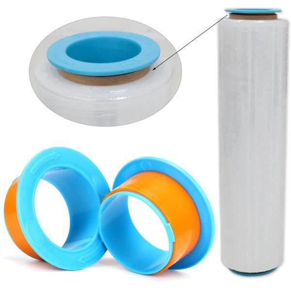 2Pcs Stretch Film Pallet Shrink Wrap Hand Saver Protector Dispenser Orange Blue