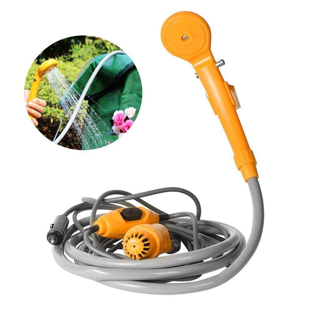 Aolvo Outdoor Portable Camping Shower, Plug Into 12v Adapter Steady Shower Stream for Outdoor Showering, Car/Pet/Plants Washing