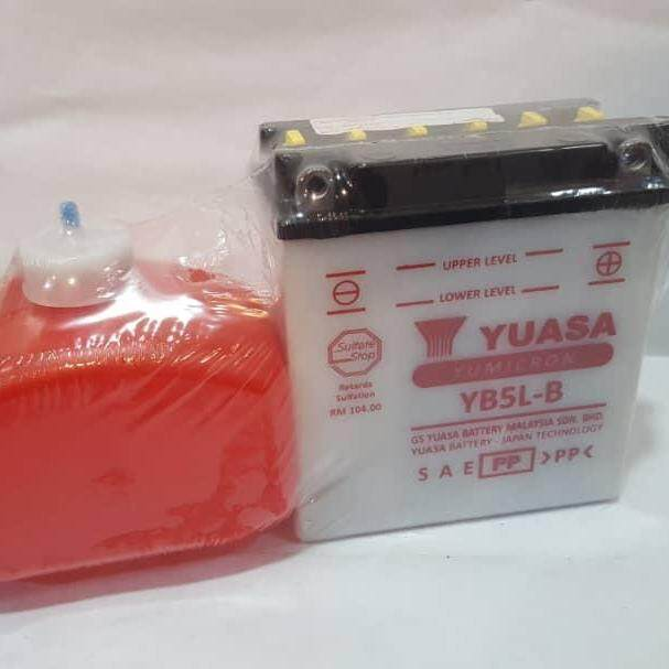 Yuasa Battery • (yb5l-B) Honda Ex5-Class/ex5-Starter/click/rs150/icon By K.k Motorspareparts.