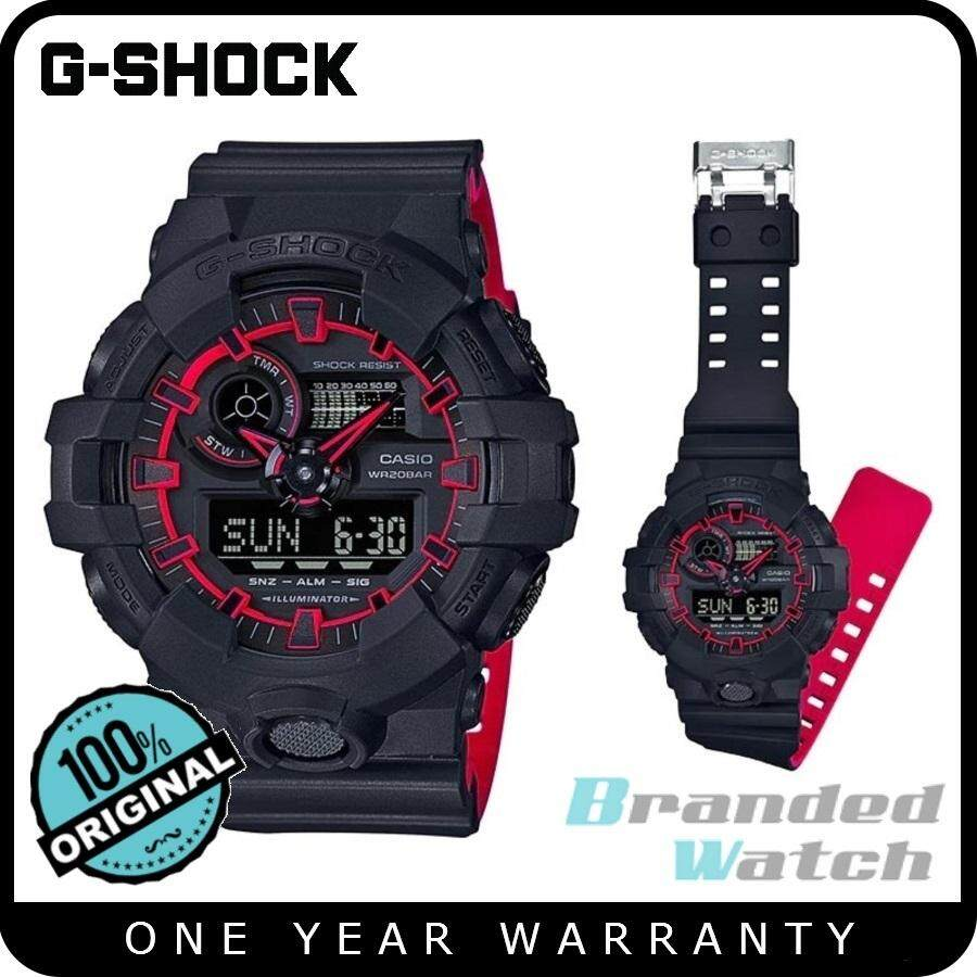 Shop Original Casio G Shock Mens Watches On Lazada My Ga 1100 1a3 700se 1a4dr Digital Analog Neon Layered Color Resin Watch