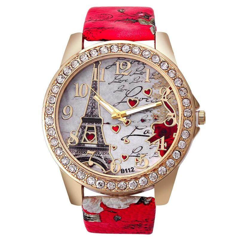 Hot Selling Watches Fashion Ladies Watch Colorful Eiffel Tower Love Watch Malaysia