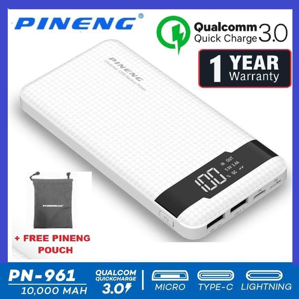 Popular Power Banks For The Best Prices In Malaysia Zola Thunder 2q Qualcomm Quick Charge 30 Usb Charger 2 Outputs Black Pineng Pn 961 10000mah Ultra Slim Charging