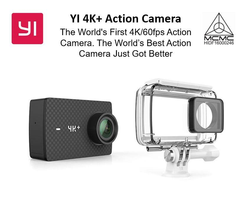 YI Official Malaysia 4K+(Plus) Action Camera Set International Edition with Waterproof Case FIRST