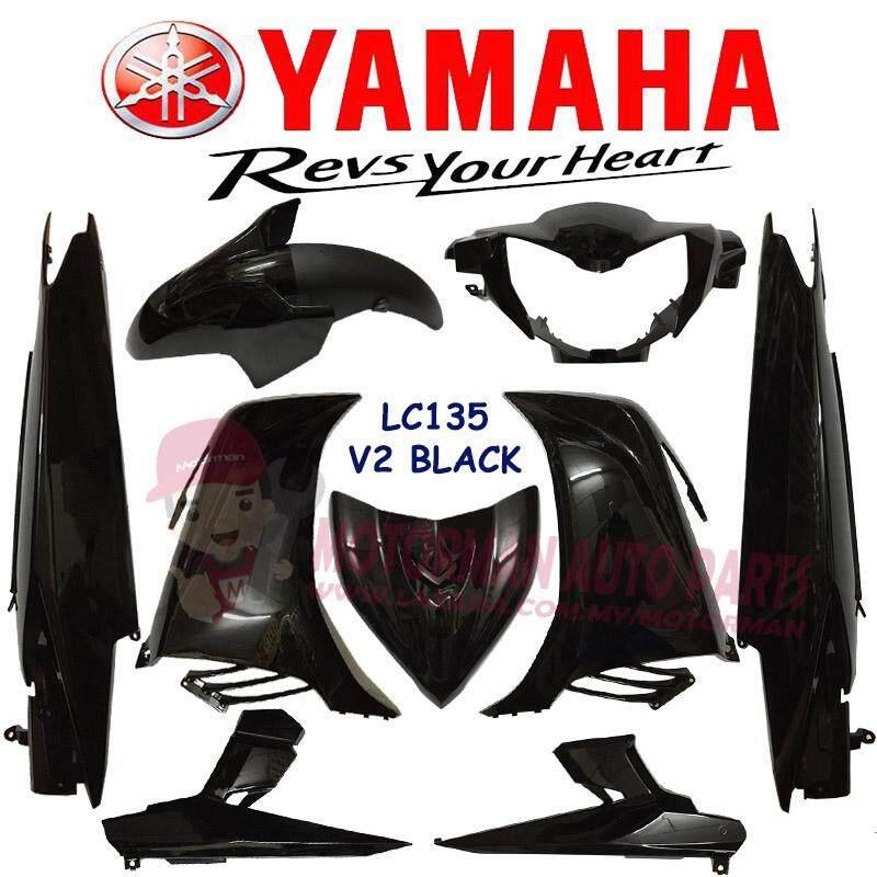 BODY COVER SET (LOCAL) YAMAHA LC135 V2 BLACK SMX(NO CLUTCH)