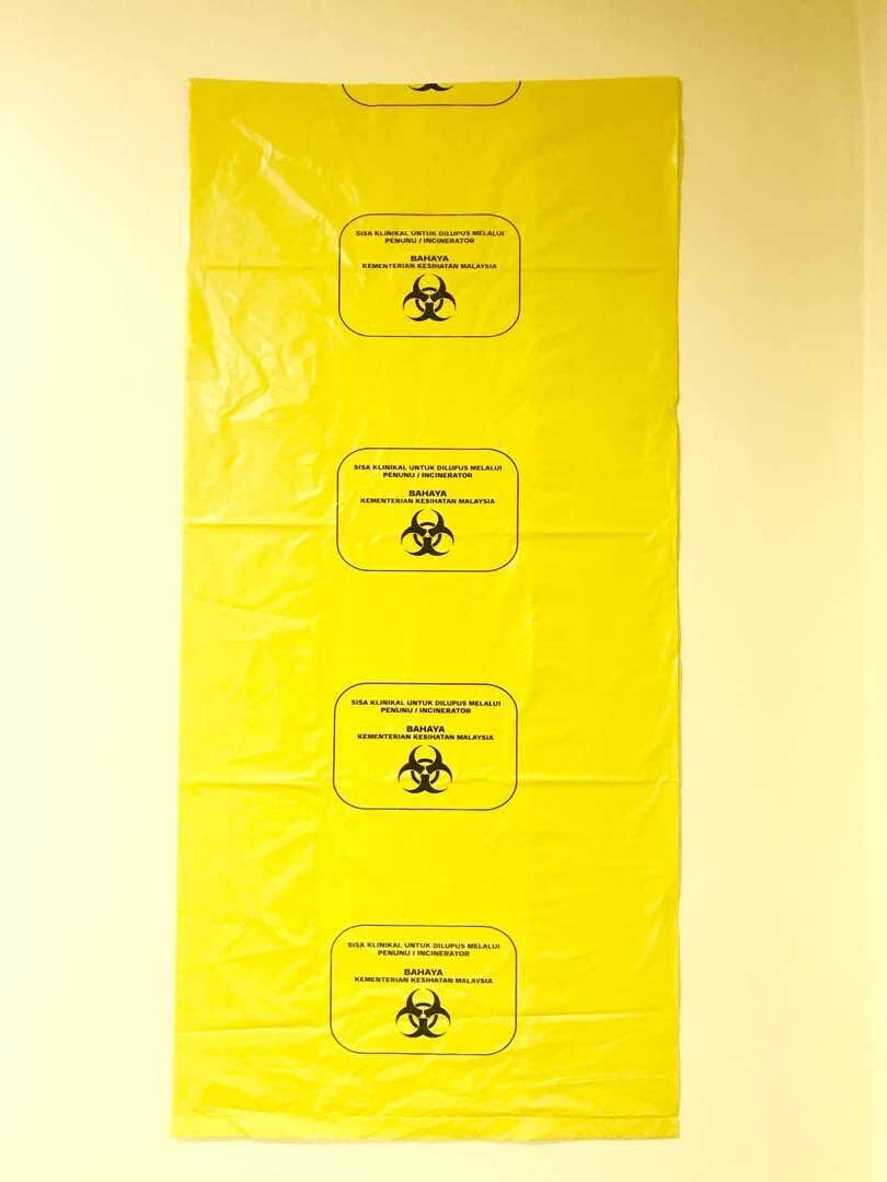 Biohazard Yellow Plastic Bag 100 Litres (10 Pcs) By Clinwaste.