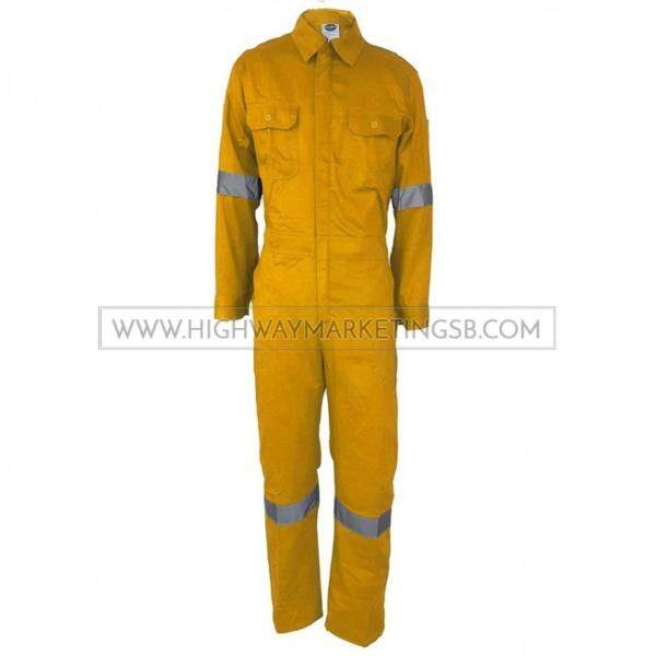 Supersonic Safety Reflective Coverall Yellow Size 4XL