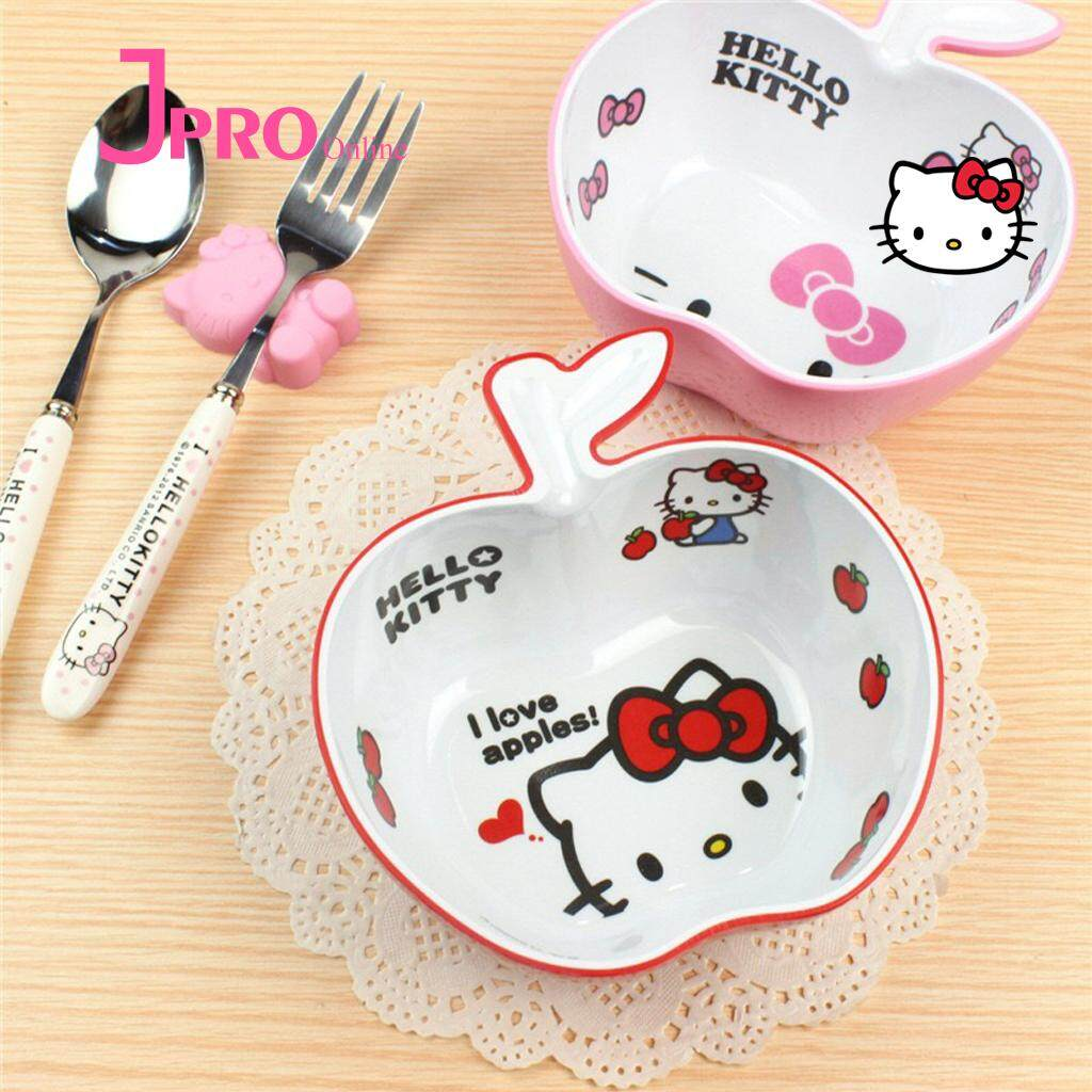 Hello Kitty Buy At Best Price In Malaysia Lazada Lock Ampamp Spoon Fork Set Apple Bowl Cute Cartoon Children