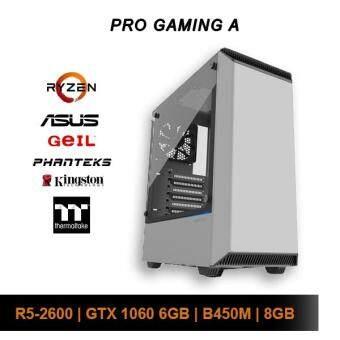 [Custom PC] AMD Pro Gaming A (R5 2600 / 8GB / 120GB SSD + 1TB HDD / GTX 1060)