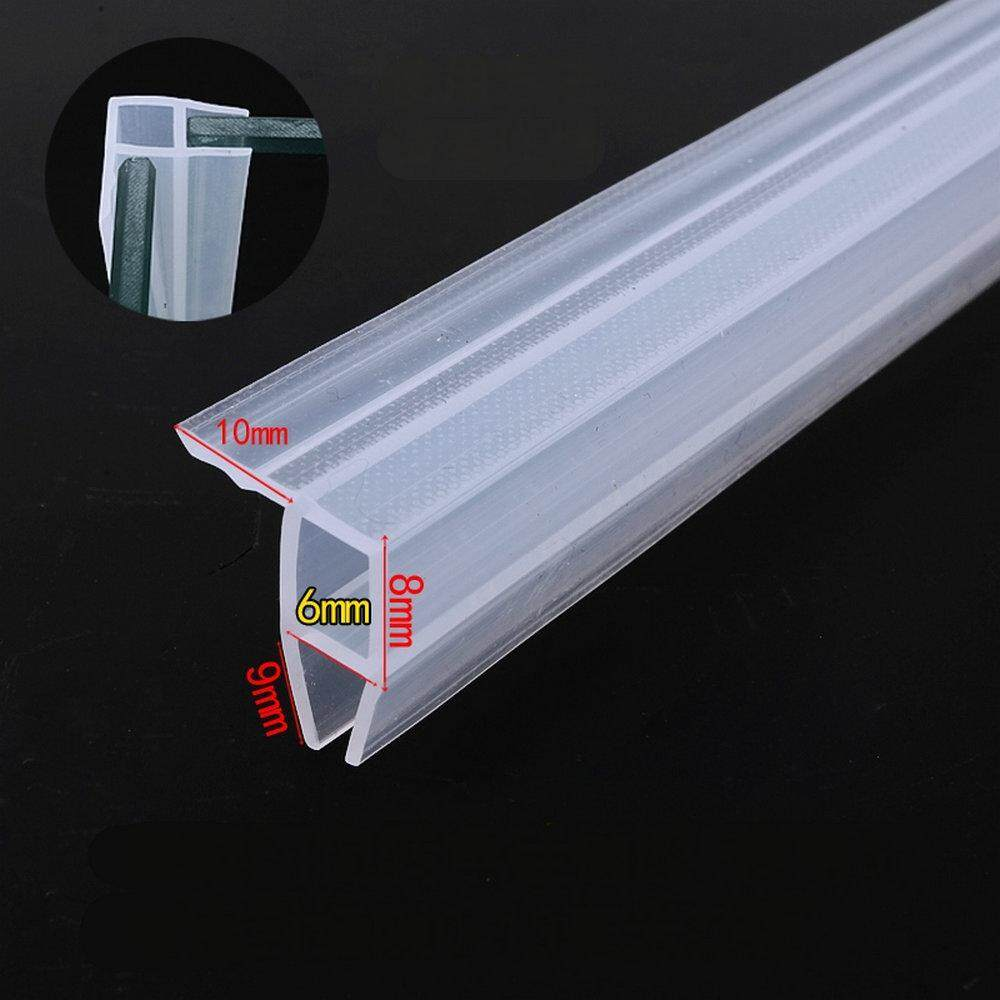 Door Window Weather Strip Balcony Shower Screen Angle Seals for 6mm Thick Glass 5 Meters Transparent
