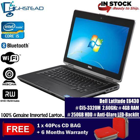 DELL Latitude E6430 Ci5 3320M 2.60GHz 8GB 500GB 3rd Gen 14 Notebook Refurbished Malaysia