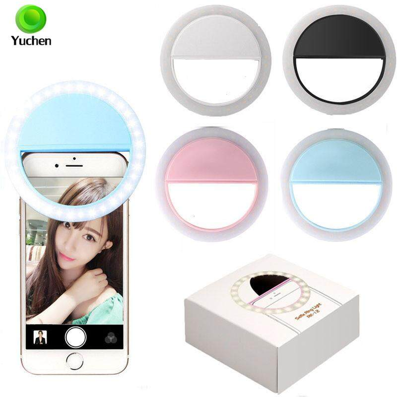 Yuchen New RK-12 Selfie Ring Light USB Rechargeable Clip-on Fill Light with