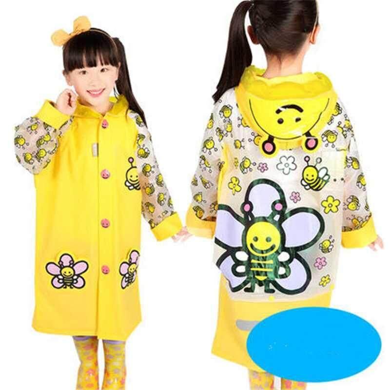 Waterproof Kids Boys Girls Cute Raincoat Kindergarten Children Cartoon Outdoor Tasteless Rain Coat Without Rainshoes A002313-2317 By Xinyuan Store.