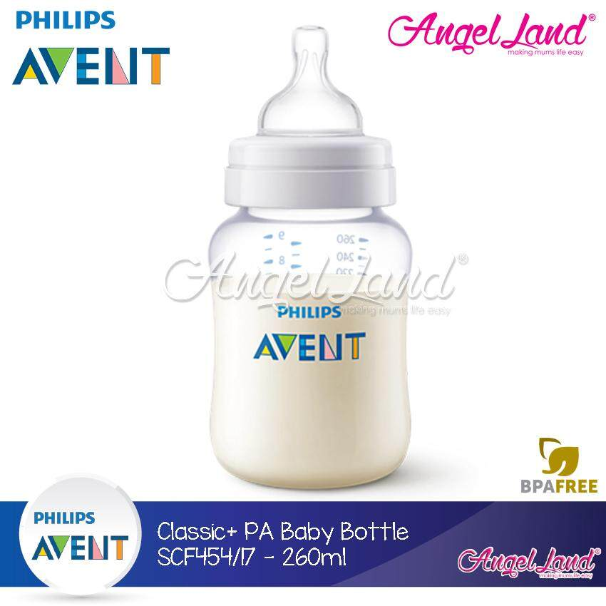 Philips Avent Anti-Colic Classic Plus PA Baby Clear Bottle 260ml/9oz (Single Pack) - SCF454/17