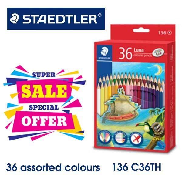 Staedtler Luna Permanent Colored Pencils 36 (long) Colour - 136c36th By Maslot.