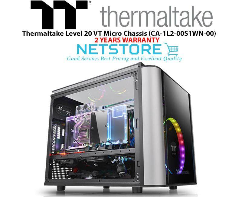 Thermaltake Level 20 VT TG Tempered Glass Micro Chassis CA-1L2-00S1WN-00 Malaysia