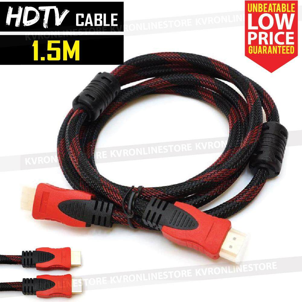 Hdmi To Hdmi Cable Hdmi Digital Audio Video 1.5m Hdtv Dvd Projector By Kvr Online Store.