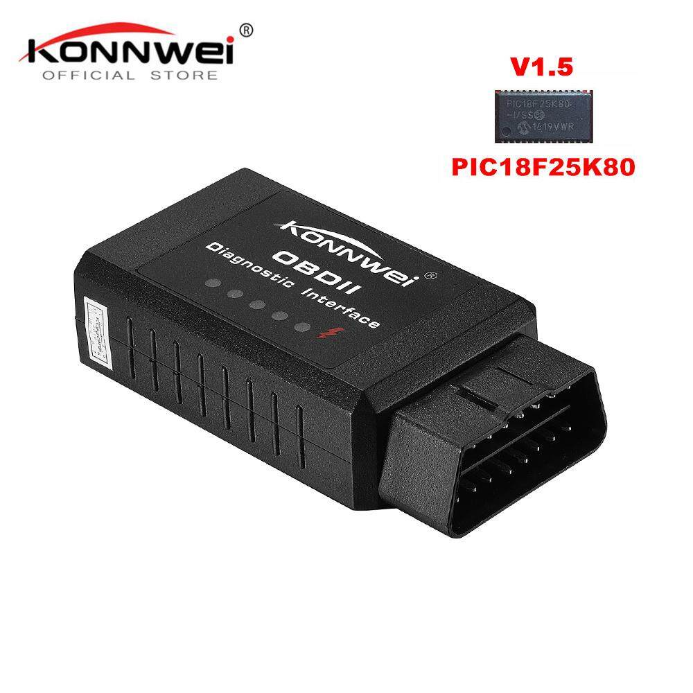 Original V1.5 Elm327 Bluetooth Adapter Pic18f25k80 EML327 OBD2 1.5 for Android PC Works with