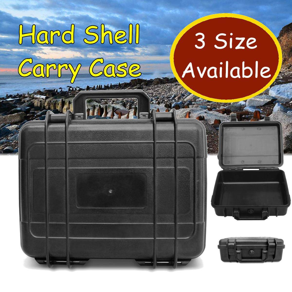 3 Sizes Waterproof Hard Carry Case Plastic Equipment Protective Storage Boxes # 40.6*33*17.4cm