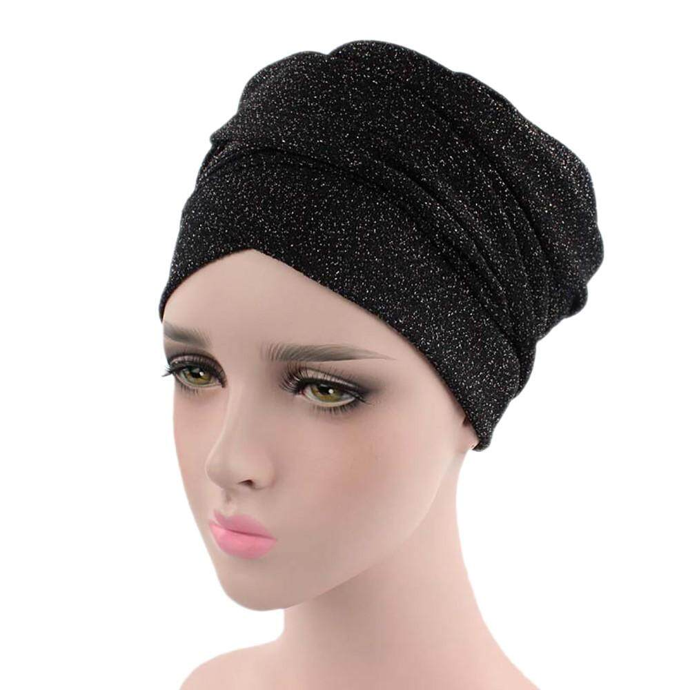 77089b60ddb Women India Africa Muslim Stretch Turban Hat Head Scarf Wrap Cap