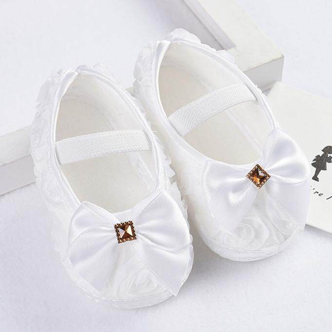 caed78c6fc0a RADOCIE Toddler Kid Baby Girl Rose Bowknot Elastic Band Newborn Walking  Shoes