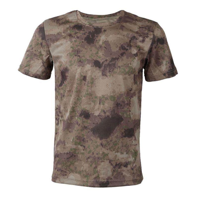 63f04840dd New Outdoor Hunting Camouflage T-shirt Men Breathable Army Tactical Combat  T Shirt Military Dry