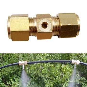 Spraying Nozzle Brass Through Type Connector Gardening Irrigation Accessories