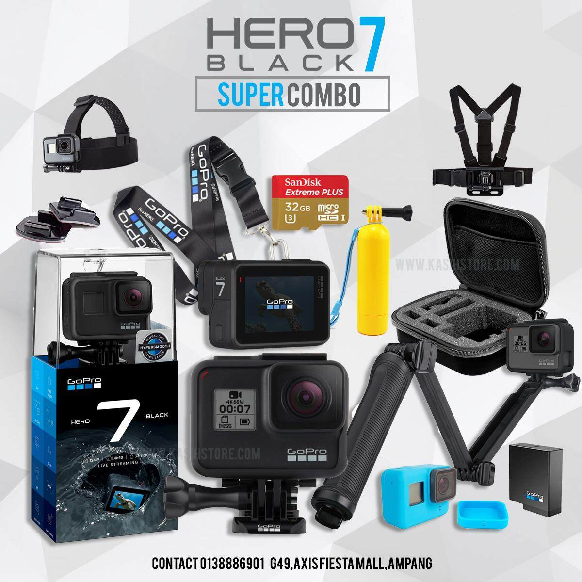 Sports Action Camera Buy At Best Price In X Pro 6s 4k 12 Mp Gopro Hero 7 Black Hero7 Bundle Pack Official Funsportz Malaysia Warranty