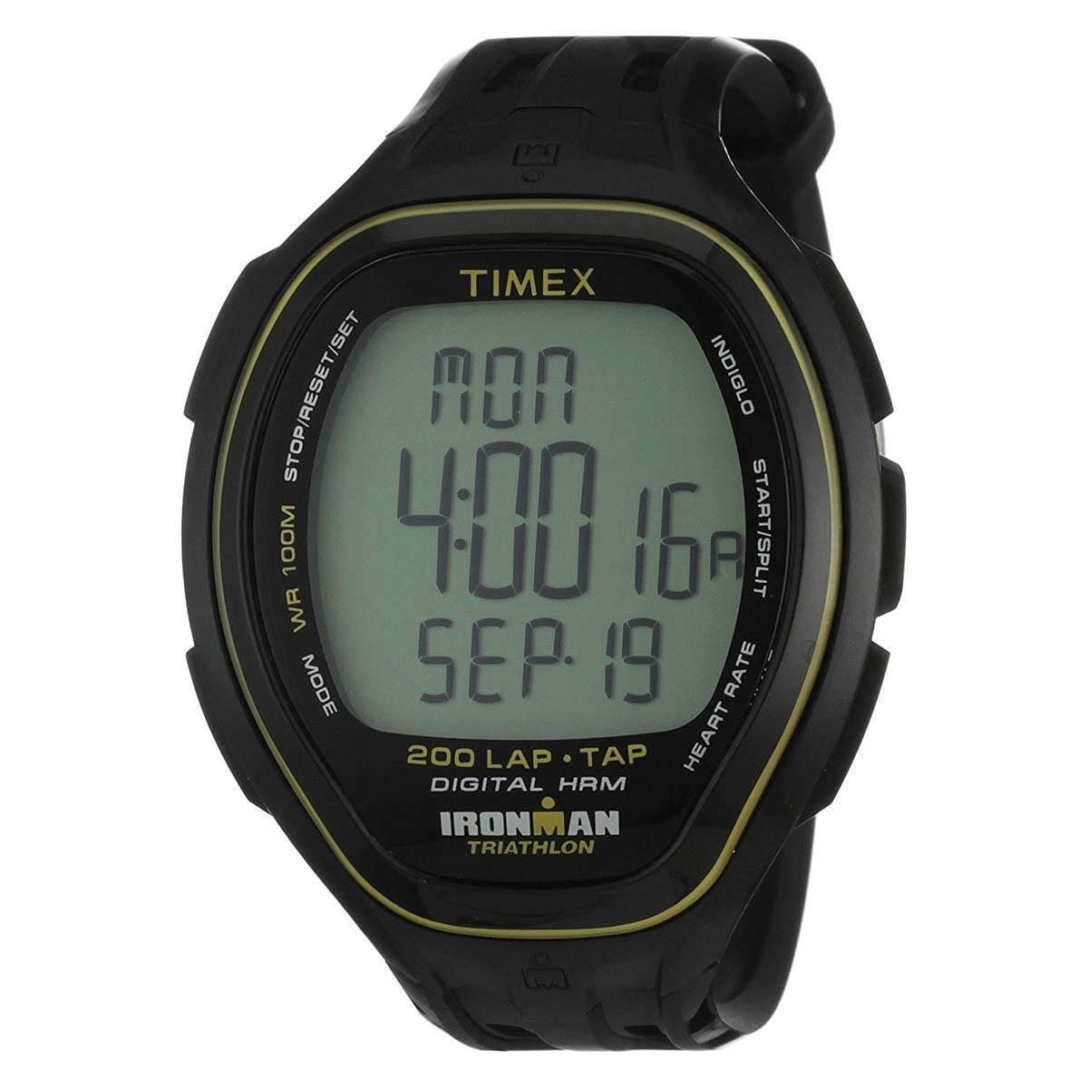 Timex Ironman Target Black Resin Case Resin Strap Mens T5K545 9e16a67385