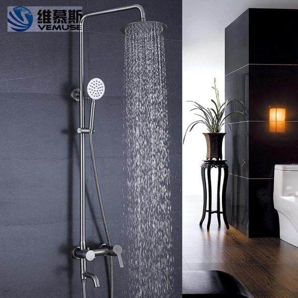Stainless Steel Shower Set 304 Stainless Steel Rain Shower Three Supercharge Water-Saving Shower Set