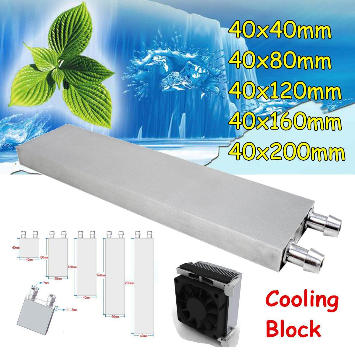 1 PCS Water Cooling Block Radiator Liquid Cooler Aluminum Heat Sink #40*40mm Malaysia