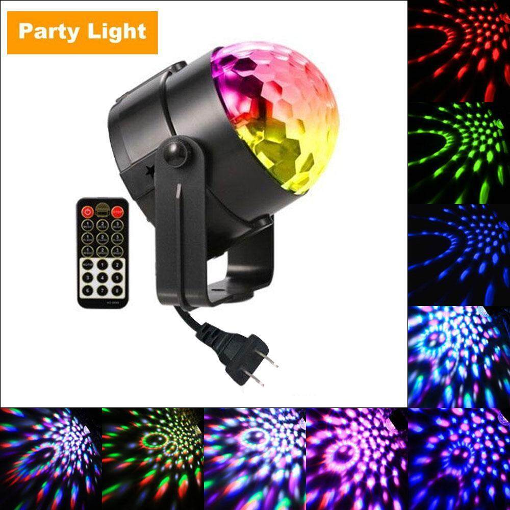 Womdee Party Lights,disco Ball Dj Lights Rgb Stage Lighting Strobe Led 7 Color Changing Sound Activated Magic Ball Effect Strobe Lights With Remote Control For Dj Club Bedroom Kids Birthday[us Plug] By Womdee.