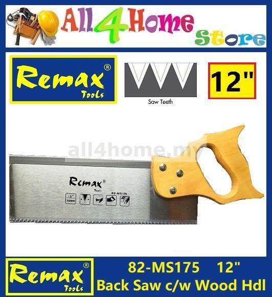 82- Ms175 12 Remax Back Saw C/w Wood Handle By All For Home Online Enterprise.
