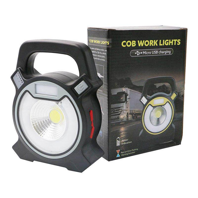 Echargeable 30w Cob Led Portable Flood Light Outdoor Garden Work Spot Lamp Usb, Grey By Yomichew.