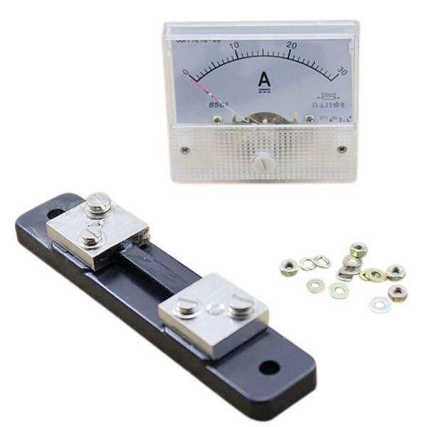 DC 0-30A Analog Amp Meter Ammeter Current Panel + 30A 75mV Shunt Resistor