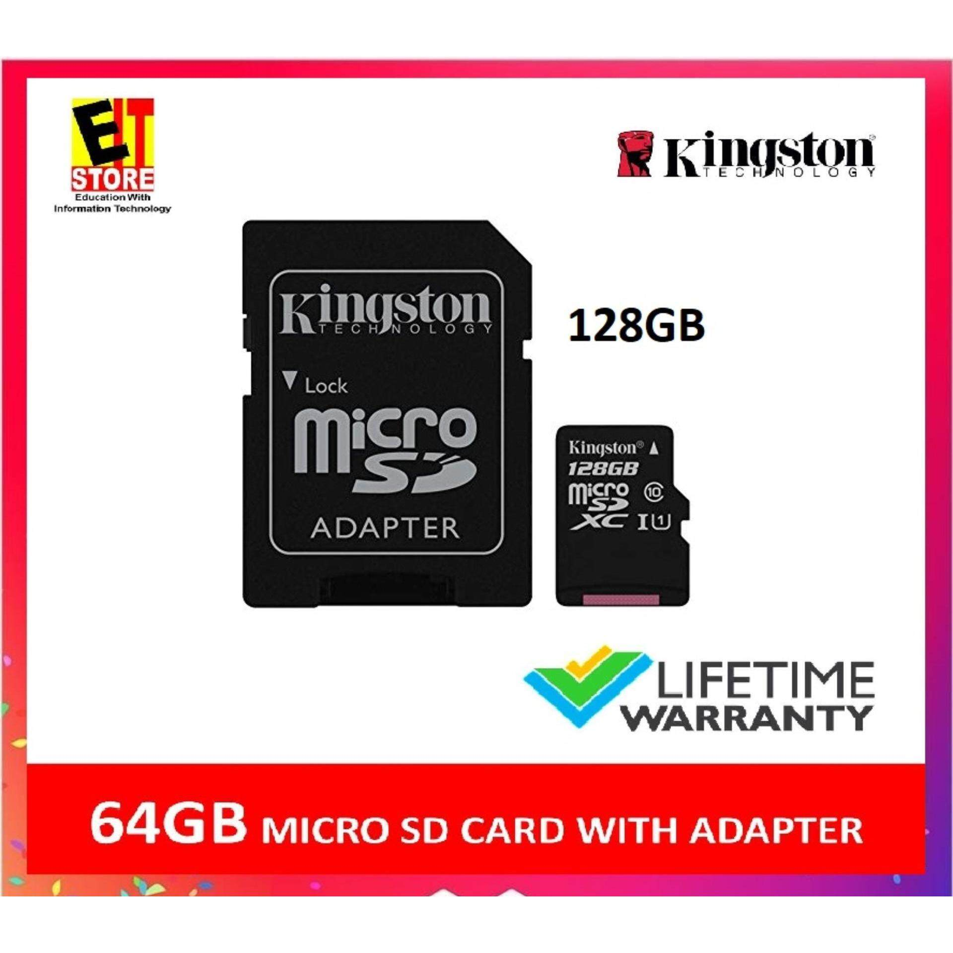 KINGSTON 128GB MICRO SD MEMORY CARD 80MB/s CLASS 10 CANVAS SELECT WITH SD ADAPTER