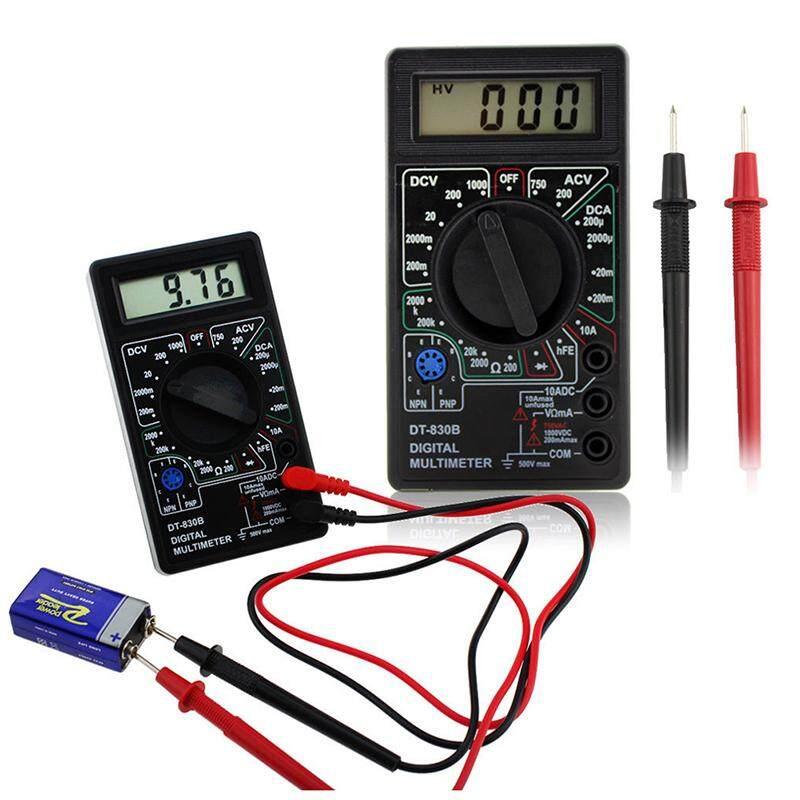 Digital Multimeter Electric Voltmeter Ammeter Ohm Tester AC/DC Amp Volt Meter,Black