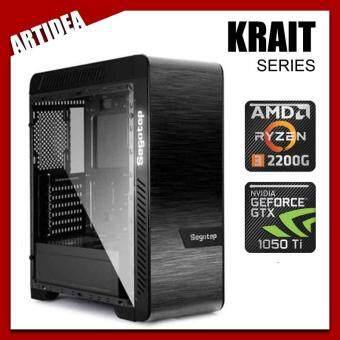 GALAX KRAIT GAMING PC ( Ryzen 3 2200G / A320M MOBO / 8GB 2666MHz RAM / GALAX GTX 1050 TI EXOC 4GB / 120GB SSD / FSP 500W BRONZE 80+ PSU / SEGOTEP EOS DUAL TG )